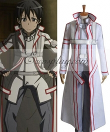 Sword Art Online  White Kirito Cosplay Costume