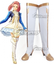 Tales of Berseria Eleanor Hume Golden White Shoes Cosplay Boots