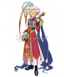 Tales of Destiny Karyl Sheeden Golden Cosplay Wig