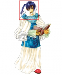 Tales of Eternia Keel Zeibel Blue Cosplay Wig