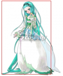 Tales of Hearts Richea Spodune Green Cosplay Wig