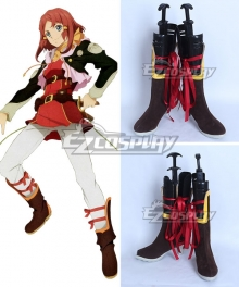 Tales Of Zestiria The X Rose Brown Shoes Cosplay Boots
