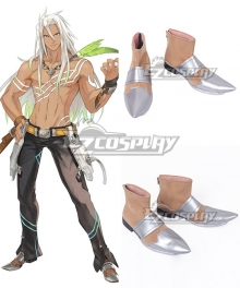 Tales of Zestiria the X Zaveid Silver Cosplay Shoes