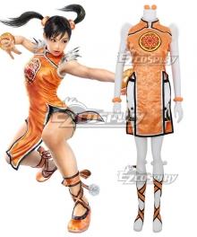 Tekken 3 Ling Xiaoyu Orange Cosplay Costume