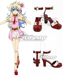 Tengen Toppa Gurren Lagann Nia Teppelin Red Cosplay Shoes