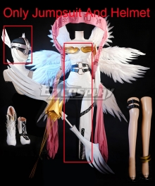 The Digimon Database Angewomon Archangel Digimon Set Cosplay Costume - Only Jumpsuit And Helmet