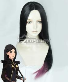 The Dragon Prince Claudia Black Purple Cosplay Wig
