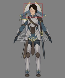 The Dragon Prince General Amaya Black Cosplay Wig