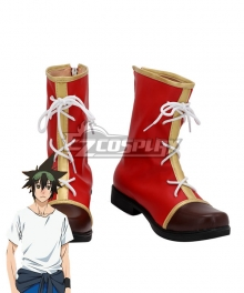 The God of High School Jin Mo-Ri Sun Wukong Red Shoes Cosplay Boots