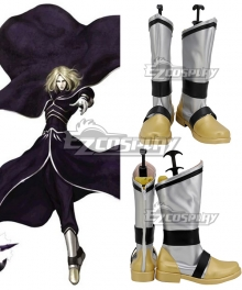 The King Of Fighters 2001 KOF Igniz Silver Shoes Cosplay Boots
