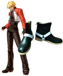 The King Of Fighters KOF Rock Howard Black Cosplay Shoes