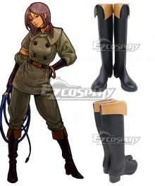 The King of Fighters Whip  Black Cosplay Shoes
