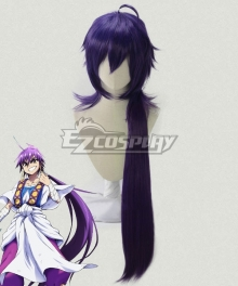 The Labyrinth Of Magic Magi Sinbad Purple Cosplay Wig
