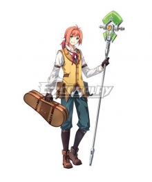 The Legend of Heroes - Hajimari no Kiseki Eliot Graig Brown Shoes Cosplay Boots