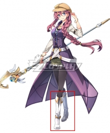 The Legend of Heroes - Hajimari no Kiseki Emma Millstein Silver Shoes Cosplay Boots