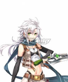 The Legend of Heroes - Hajimari no Kiseki Fie Claussell Silver Cosplay Wig