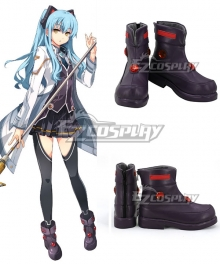 The Legend Of Heroes: Sen No Kiseki Eiyuu Densetsu Sen no Kiseki 3 Tio Plato Purple Red Cosplay Shoes