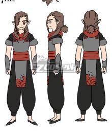 The Legend of Luo Xiaohei Movie Luozhu Cosplay Costume