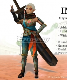 The Legend Of Zelda: Breath Of The Wild Hyrule Warriors Impa Cosplay Costume