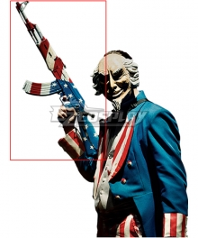 The Purge 3 : Election Year Uncle Sam Halloween Gun Cosplay Weapon Prop