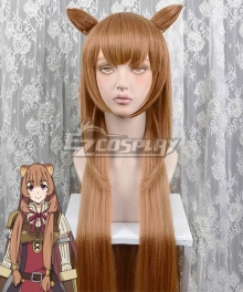 The Rising Of The Shield Hero Raphtalia Brown Cosplay Wig