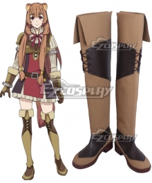 The Rising of the Shield Hero Raphtalia Brown Shoes Cosplay Boots