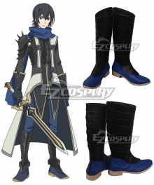 The Rising of the Shield Hero Ren Amaki Black Blue Shoes Cosplay Boots