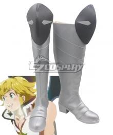 The Seven Deadly Sins: Kamigami no Gekirin Meliodas Grey Shoes Cosplay Boots