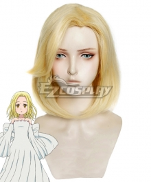The Seven Deadly Sins Nanatsu No Taizai Elaine Golden Cosplay Wig