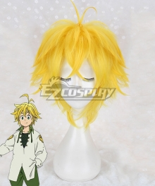 The Seven Deadly Sins: Revival Of The Commandments Nanatsu No Taizai Season 2 Dragon's Sin Dragon's Sin Of Wrath Meliodas Golden Cosplay Wig
