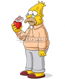 The Simpsons Abe Simpson Cosplay Costume