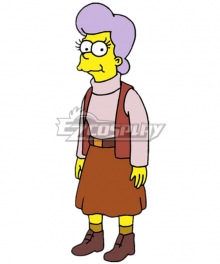 The Simpsons Mona Simpson Cosplay Costume