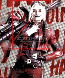 The Suicide Squad Harley Quinn 2021 Movie Black Red Cosplay Wig