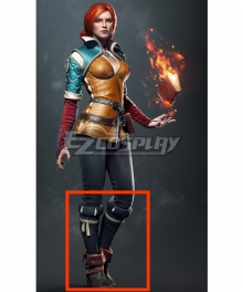 The Witcher 3 Triss Merigold Black Shoes Cosplay Boots