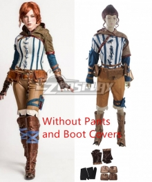The Witcher 3: Wild Hunt Triss Cosplay Costume - Without Pants and Boot covers