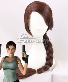 Tomb Raider Lara Croft Brown Cosplay Wig