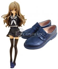 Toradora Taiga Aisaka School Uniform Deep Blue Cosplay Shoes