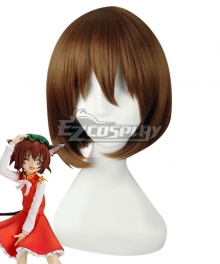 Touhou Project Chen Brown Cosplay Wig