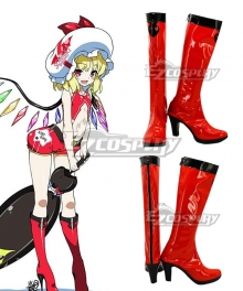 Touhou Project Flandre Scarlet Racing Red Shoes Cosplay Boots
