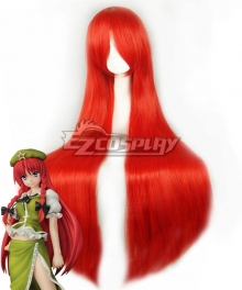 Touhou Project Hong Meiling Red Cosplay Wig