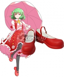 Touhou Project Kazami Yuuka Red Cosplay Shoes