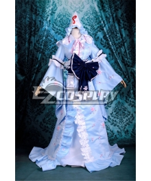 Touhou Project Saigyouji Yuyuko Cosplay Costume