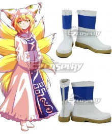 Touhou Project Yakumo Ran White Cosplay Shoes