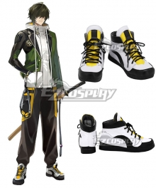 Touken Ranbu Kuwana Gou White Cosplay Shoes