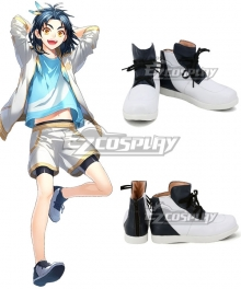 Touken Ranbu Online Taikogane Sadamune White Black Cosplay Shoes