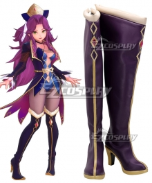 Trials of Mana Angela Rune Seer Purple Shoes Cosplay Boots