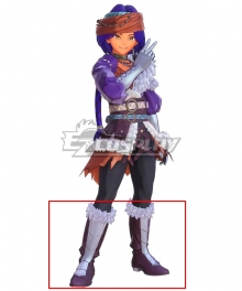 Trials of Mana Hawkeye Rogue Purple Shoes Cosplay Boots