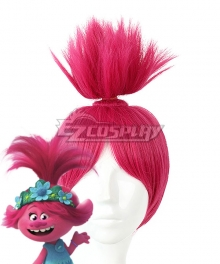 Trolls 2:World Tour Poppy Red Pink Cosplay Wig