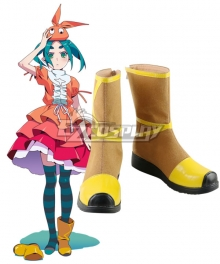 Tsukimonogatari Possession Story Ononoki Yotsugi Brown Shoes Cosplay Boots