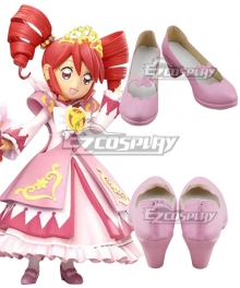 Twin Princess of Wonder Planet Fushigiboshi no Futagohime Fine Pink Cosplay Shoes